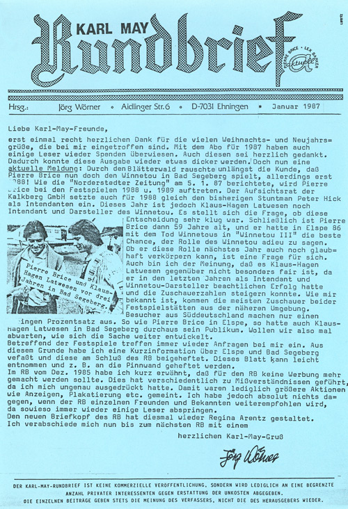 Karl May Rundbrief 16