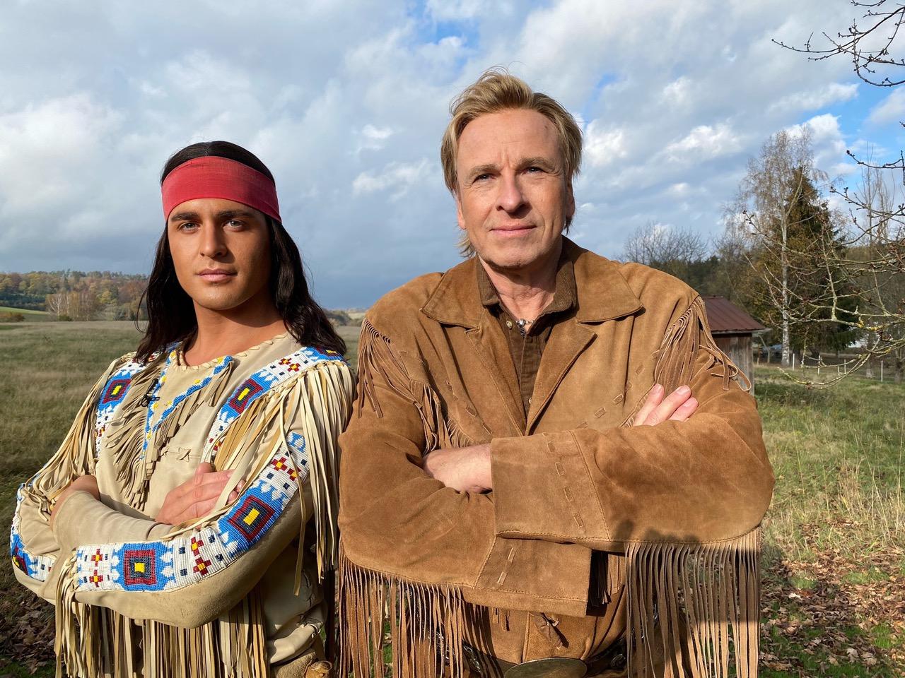Alexander Klaws als Winnetou und Thomas Gottschalk als Old Shatterhand.